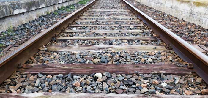 Stones on the train tracks