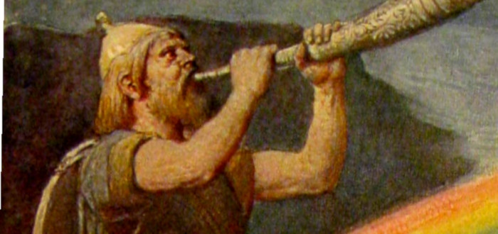 Viking Horn blowing