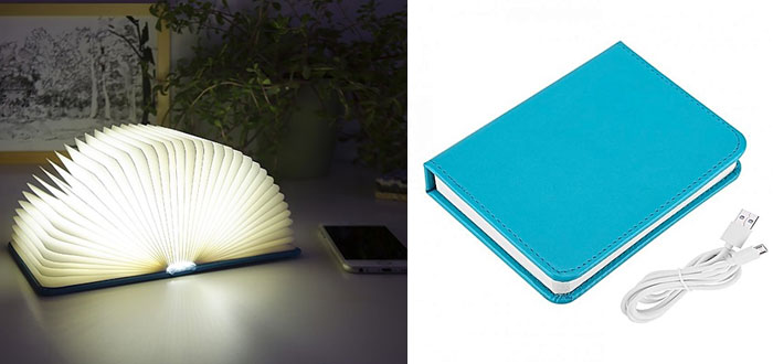 very curious gifts, book lamp